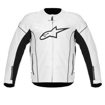 Blouson moto cuir alpinestar blanc